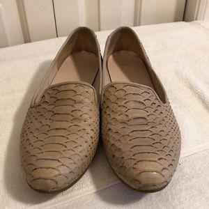 Cole Haan flats sz 9.5 cream/brown textured shoes